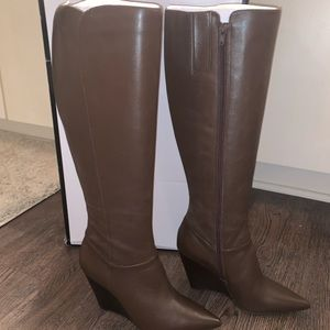 NWT.  Nine West Varin Wedge Boots